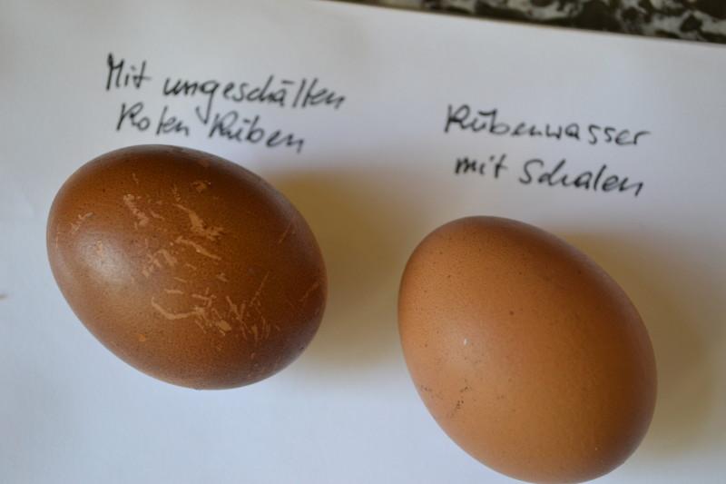 Eier gefärbt Rote Rüben