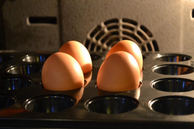 Gebackene harte Eier